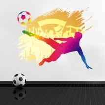 Vinyl and stickers soccer decoration