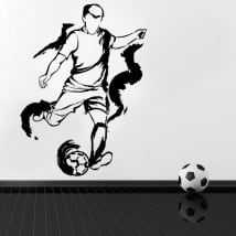 Vinyl and stickers soccer player silhouette