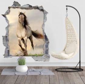 Vinyl hole wall 3d horse