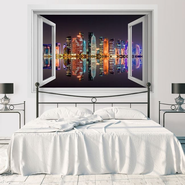 Vinyl window city of doha qatar 3d