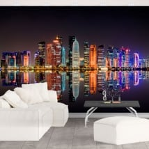 Wall mural city of doha qatar