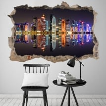 Vinyl doha city qatar 3d wall hole