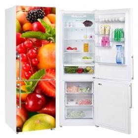 Vinyls for refrigerators collage of fruits