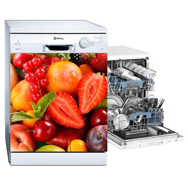 Vinyls for dishwashers fruit collage