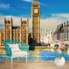 Wall murals of vinyl big ben london england