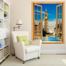 Vinyl windows big ben london england