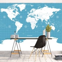 Vinyl murals world map to decorate