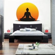 Adhesive vinyl and stickers yoga silhouette