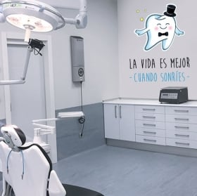 Vinyl and stickers dentists phrases