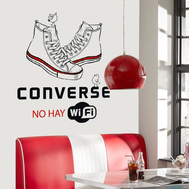Adhesive vinyl and stickers converse there is no wifi