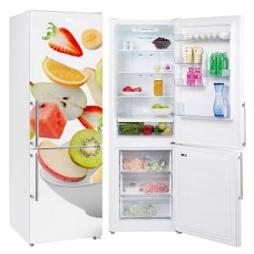 Decorative vinyl for refrigerators fruit bowl