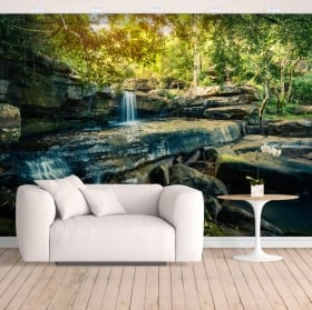 Vinyl wall murals waterfalls tropical nature