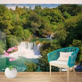 Vinyl wall murals waterfalls tropical nature