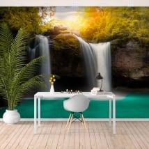 Wall murals vinyl waterfall haew suwat thailand