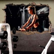 Vinyl and stickers gymnasiums decoration fitness 3d