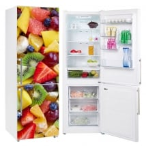 Decorative vinyl fruits refrigerators and fridges