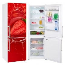 Vinyl strawberry in the water decoration refrigerators