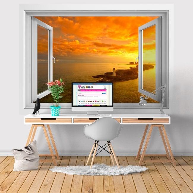 Vinyl walls window lighthouse in nasáu las bahamas 3d
