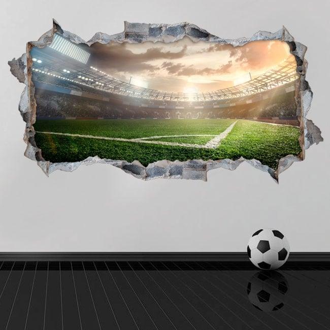 Vinyl hole wall panoramic football stadium