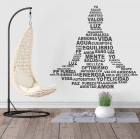 Wall stickers silhouette Buddha text