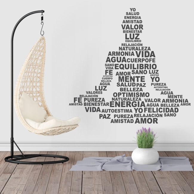 Vinyl and stickers silhouette yoga text