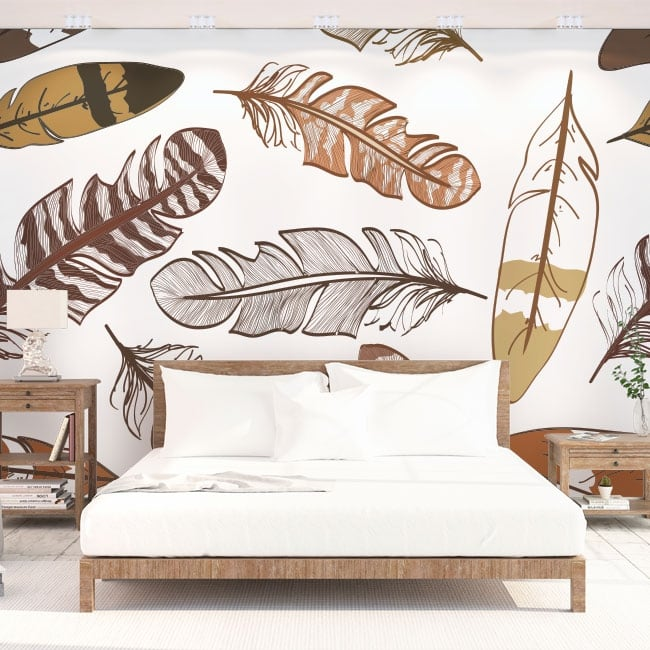 Vinyl wall murals feathers to decorate