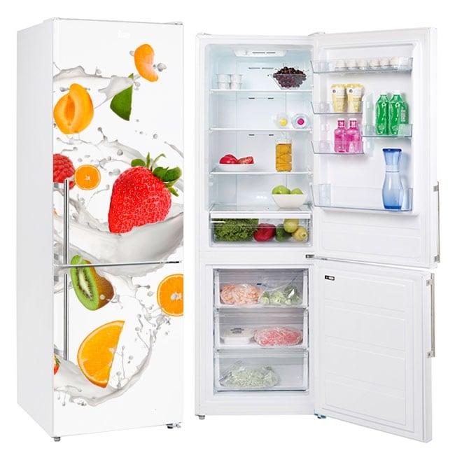 Vinyls for refrigerators fruits with milk
