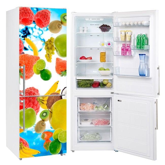 Vinyl fruits decoration fridges