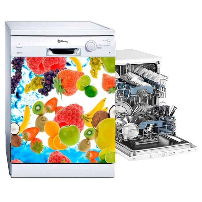 Vinyl and stickers fruits dishwasher decoration