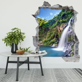 Wall stickers walkway over the stream 3D