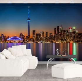 Vinyl wall murals canada colors sunset