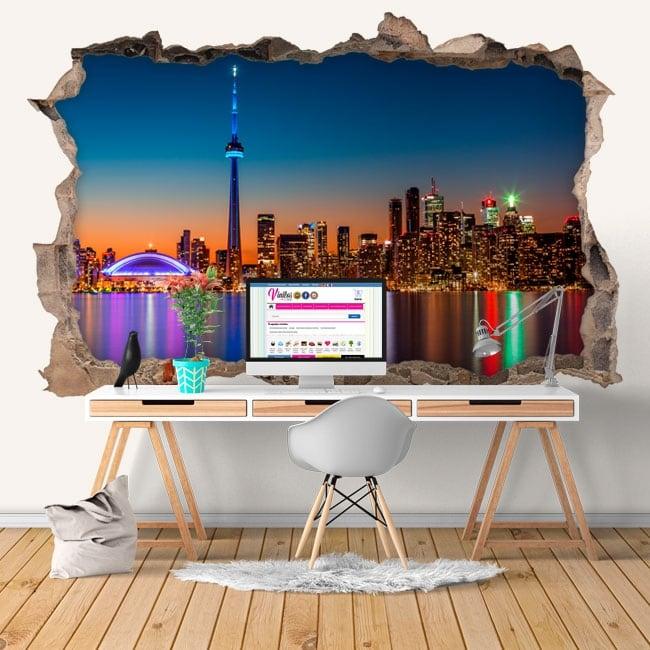 Vinyl 3d wall hole canada colors sunset