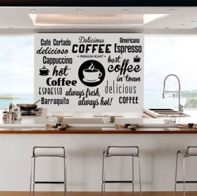 Wall decal and stickers coffee phrases