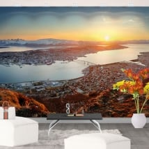 Vinyl wall murals sunset in norway