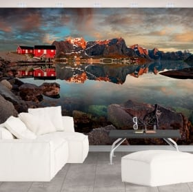 Vinyl wall murals reine norway