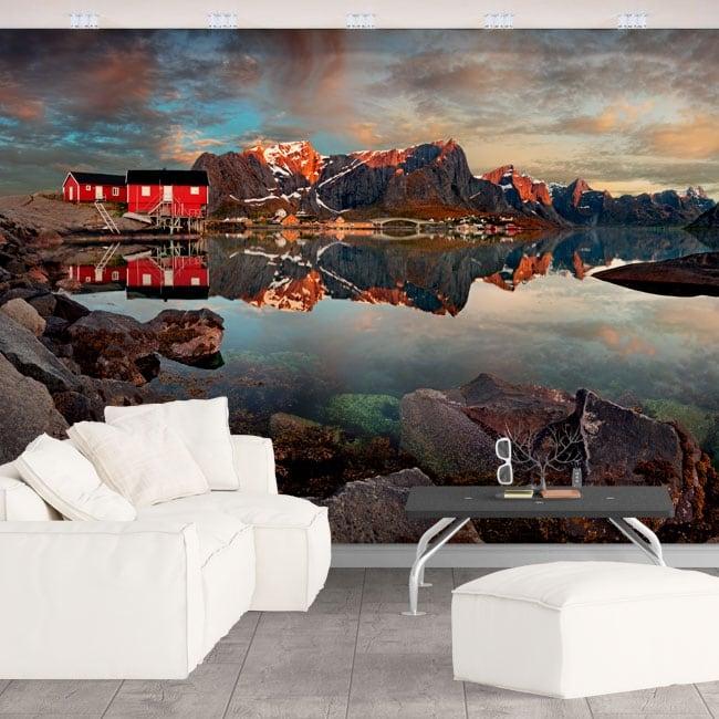 Vinyl wall murals reine norway