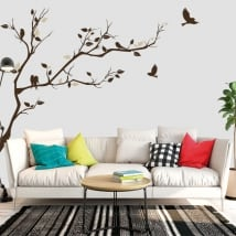 Vinyl tree branch and birds to decorate