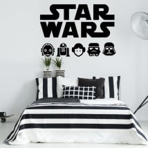 Decorative vinyl and star wars stickers