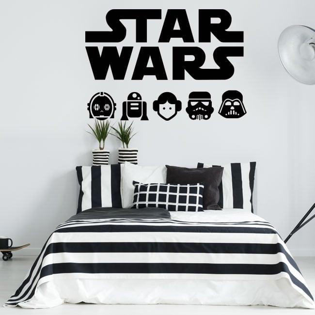 Decorative vinyl and star wars stickers
