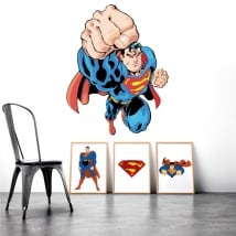Decorative vinyl and superman stickers