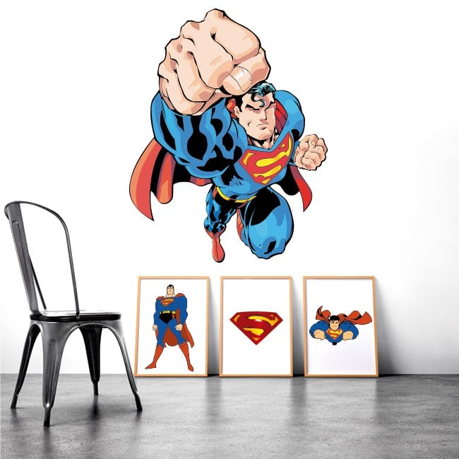 Decorative vinyl and superman stickers