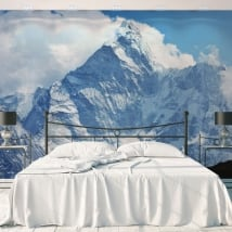 Vinyl wall murals snowy mountains nepal