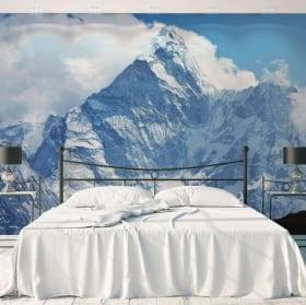 Wall murals Swiss Alps mountains