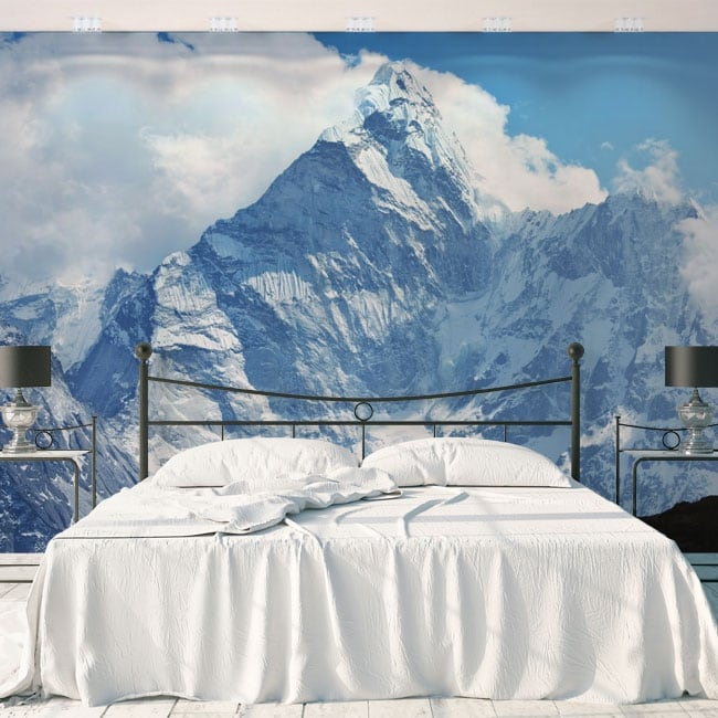 Vinyl wall murals snowy mountains nepal