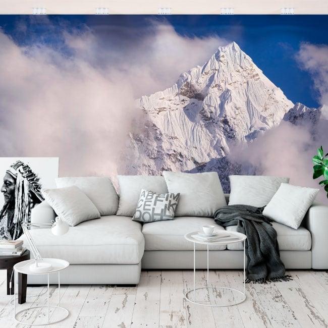 Vinyl wall murals top kangtega mountains himalayas nepal
