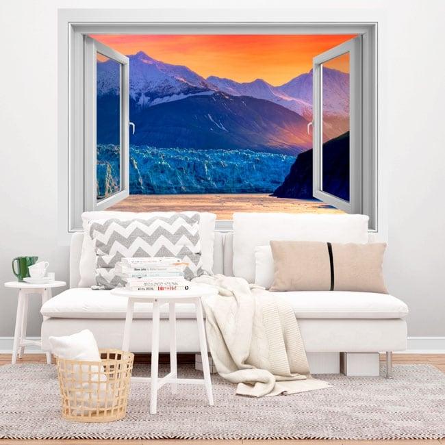 Vinyl windows sunset in alaska 3d