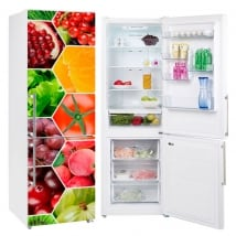 Vinyls collage fruits and vegetables for refrigerators