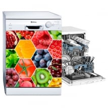Dishwasher vinyls collage fruits and vegetables