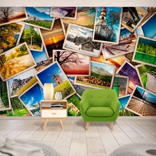 Vinyl wall murals photo collage
