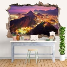 Vinyl 3d wall hole canada colors sunset